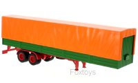 Auflieger flatbed platform trailer with cover