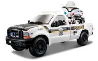 Ford F-350 Super Duty Pick Up + Harley Davidson FLHTPI Electra Glide Police