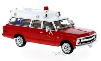 Chevrolet Suburban ambulance Hillside Fire Department 1970